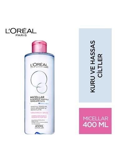 L'Oréal Paris Micellar Kusursuz Makyaj Temizleme Suyu Hassas 400Ml Renkli